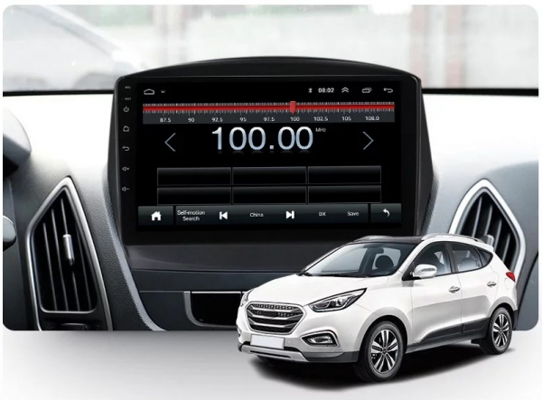 Navigatie Hyundai ix 35 Tucson ( 2009 - 2015 ) , Android , Display 9 inch , 2GB RAM +32 GB ROM , Internet , 4G , Aplicatii , Waze , Wi Fi , Usb , Bluetooth , Mirrorlink 2