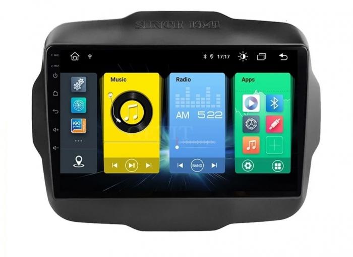 Navigatie Jeep Renegade ( 2015 -2021 ) , 4 GB RAM + 64 GB ROM , Slot Sim 4G pentru Internet , Carplay , Android , Aplicatii , Usb , Wi Fi , Bluetooth 0