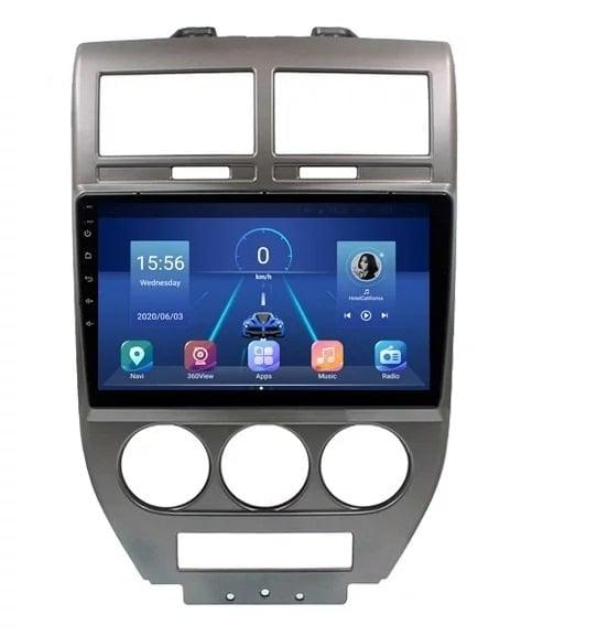 Navigatie Jeep Compass ( 2006 - 2010 ) , Android , Display 10 inch , 2GB RAM +32 GB ROM , Internet , 4G , Aplicatii , Waze , Wi Fi , Usb , Bluetooth , Mirrorlink 1