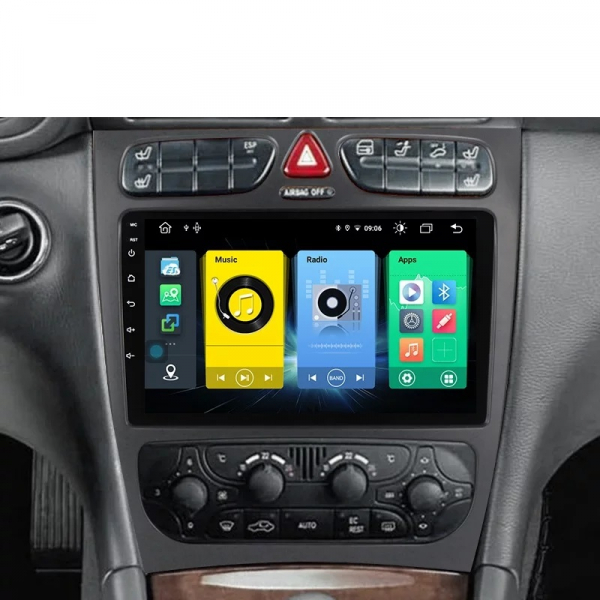 Navigatie Mercedes C Class W203 CLK W209 ( 2000 - 2005 ) , Android , Display 9 inch , 2GB RAM +32 GB ROM , Internet , 4G , Aplicatii , Waze , Wi Fi , Usb , Bluetooth , Mirrorlink 4
