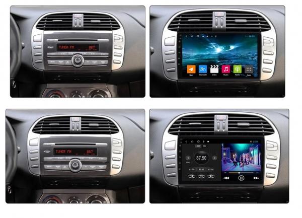 Navigatie Fiat Bravo ( 2007 - 2012 ) , Android , Display 9 inch , 2GB RAM +32 GB ROM , Internet , 4G , Aplicatii , Waze , Wi Fi , Usb , Bluetooth , Mirrorlink 2