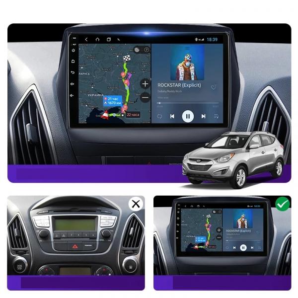Navigatie Hyundai ix 35 Tucson ( 2009 - 2015 ) , Android , Display 9 inch , 2GB RAM +32 GB ROM , Internet , 4G , Aplicatii , Waze , Wi Fi , Usb , Bluetooth , Mirrorlink 4