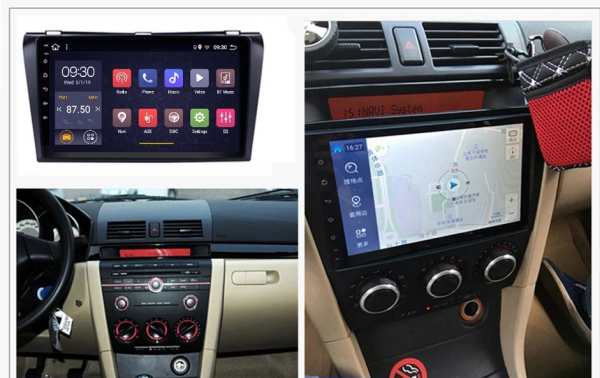 Navigatie Mazda 3 ( 2003 - 2010 ) , Android , Display 9 inch , 2GB RAM +32 GB ROM , Internet , 4G , Aplicatii , Waze , Wi Fi , Usb , Bluetooth , Mirrorlink 1