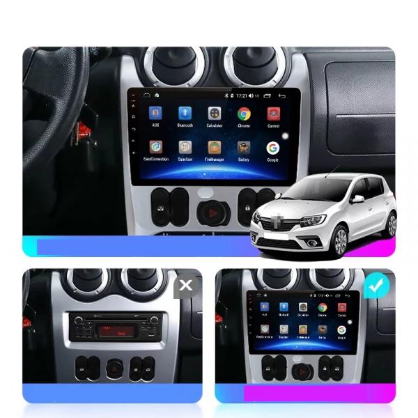 Navigatie Dacia Logan ( 2009 - 2016 ) , Android , Display 9 inch , 2GB RAM +32 GB ROM , Internet , 4G , Aplicatii , Waze , Wi Fi , Usb , Bluetooth , Mirrorlink [1]
