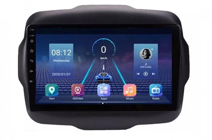 Navigatie Jeep Renegade ( 2015 -2021 ) , 4 GB RAM + 64 GB ROM , Slot Sim 4G pentru Internet , Carplay , Android , Aplicatii , Usb , Wi Fi , Bluetooth 4