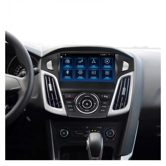 Navigatie Ford Focus 2012 - 2018 , Slot SIM 4G , Android , 3 GB RAM si 32 GB ROM , Internet, Aplicatii, Waze , Wi Fi , Usb , Bluetooth , Mirrorlink 1