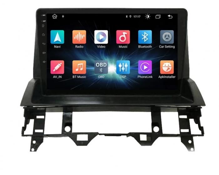 Navigatie Mazda 6 ( 2002 - 2009 ) , Android , Display 9 inch , 2GB RAM si 32 GB ROM , Internet , 4G , Aplicatii , Waze , Wi Fi , Usb , Bluetooth , Mirrorlink [2]