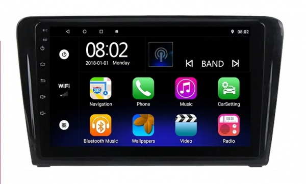 Navigatie Skoda Rapid ( 2013 - 2018 ) , Android , Display 9 inch , 2GB RAM +32 GB ROM , Internet , 4G , Aplicatii , Waze , Wi Fi , Usb , Bluetooth , Mirrorlink 4
