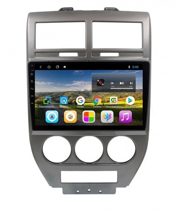 Navigatie Jeep Compass ( 2006 - 2010 ) , Android , Display 9 inch , 2GB RAM +32 GB ROM , Internet , 4G , Aplicatii , Waze , Wi Fi , Usb , Bluetooth , Mirrorlink 0