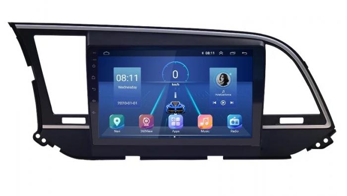 Navigatie Hyundai Elantra ( 2015 - 2019 ) , Android , Display 9 inch , 2 GB RAM si 32 GB ROM , Internet , 4G , Aplicatii , Waze , Wi Fi , Usb , Bluetooth , Mirrorlink [0]