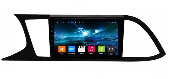 Navigatie Seat Leon 3 ( 2014 - 2020 ) , Android , Display 9 inch , 2GB RAM +32 GB ROM , Internet , 4G , Aplicatii , Waze , Wi Fi , Usb , Bluetooth , Mirrorlink 4