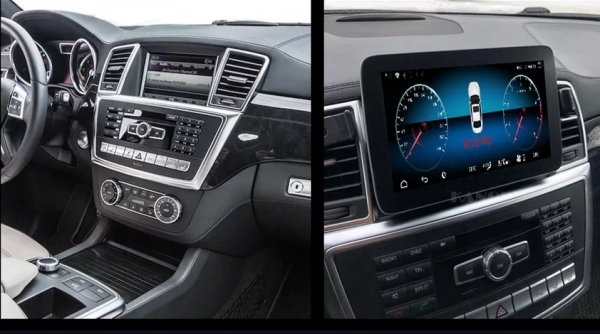 Navigatie Mercedes ML GL W166 ( 2013 - 2015) , Android , NTG 4.5 , 4GB RAM + 64 GB ROM , Slot Sim 4G LTE , Procesor Octa Core , Internet , Aplicatii , Waze , Wi Fi , Usb , Bluetooth , Mirrorlink 4