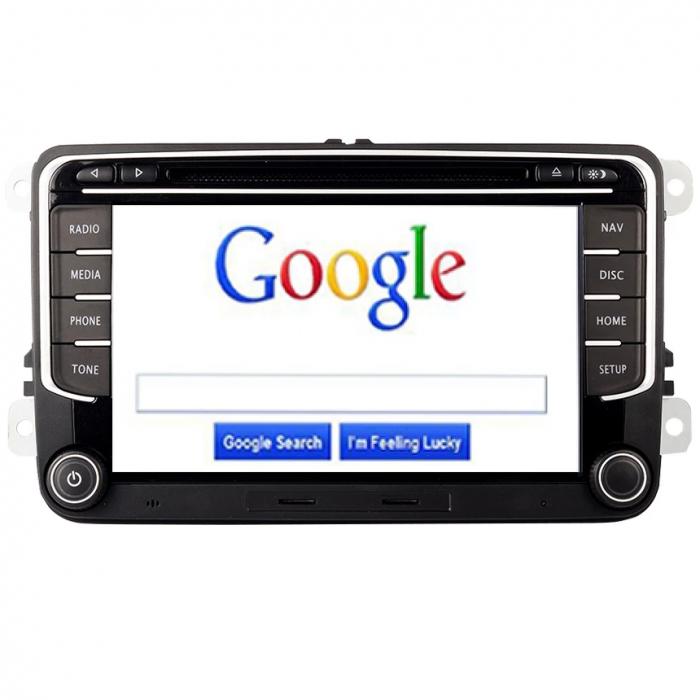 Navigatie Skoda Octavia 2 Fabia Superb Rapid Roomster Yeti Seat Leon Altea Toledo Alhambra , 4 GB RAM + 64 GB ROM , Slot Sim 4G pentru Internet , Carplay , Android Usb , Wi Fi , Bluetooth [2]