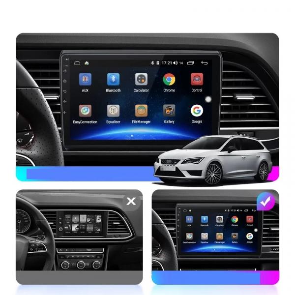 Navigatie Seat Leon 3 ( 2014 - 2020 ) , Android , Display 9 inch , 2GB RAM +32 GB ROM , Internet , 4G , Aplicatii , Waze , Wi Fi , Usb , Bluetooth , Mirrorlink 1