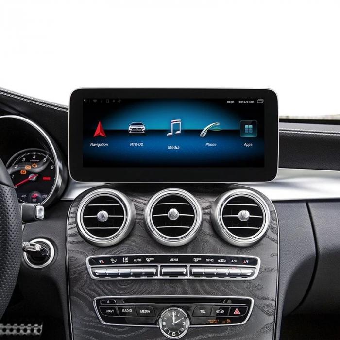 "Navigatie Mercedes C Class W205 ( 2015 - 2018 ) , 4 GB RAM + 64 GB ROM , Slot Sim 4G , Android , Display 10.25 "" rezolutie 1920*720 , Internet , Wi Fi , Usb , Bluetooth [4]"