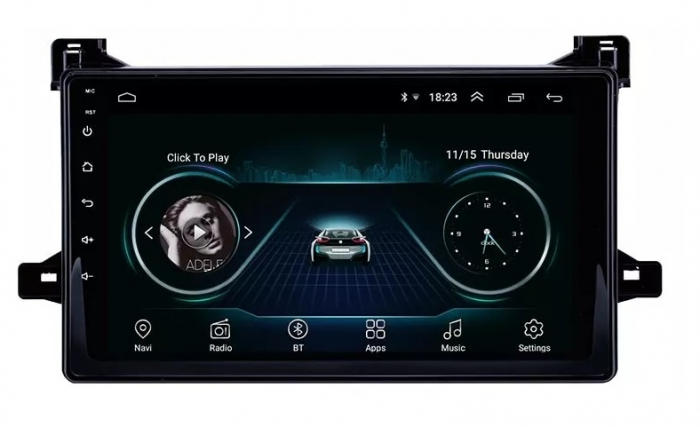 Navigatie Toyota Prius ( 2015 + ) , 4 GB RAM + 64 GB ROM , Slot Sim 4G pentru Internet , Carplay , Android , Aplicatii , Usb , Wi Fi , Bluetooth [4]
