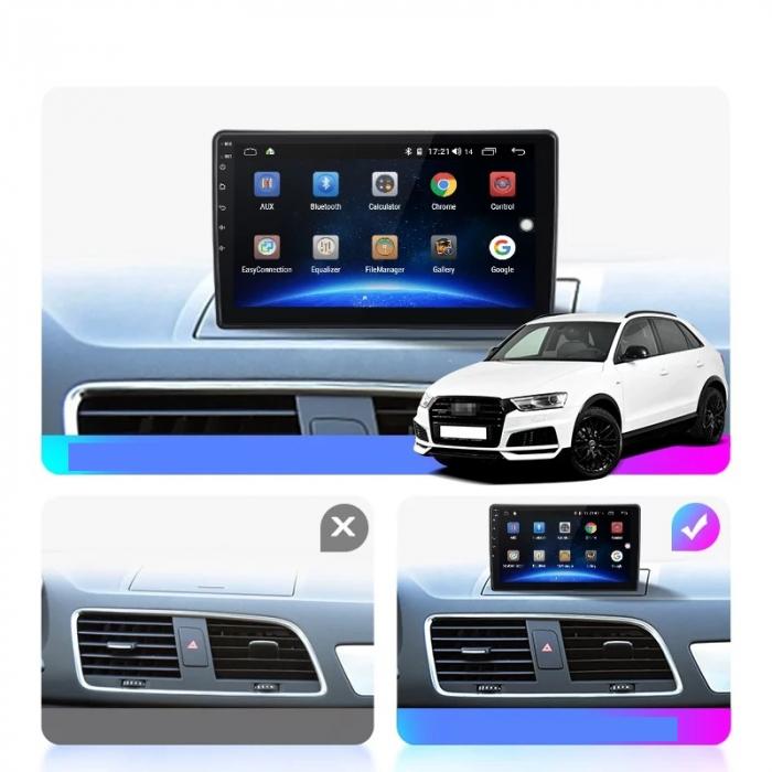 Navigatie Audi Q3 ( 2011 - 2018 ) 4 GB RAM si 64 GB ROM , Slot Sim 4G pentru Internet , Carplay , Android , Aplicatii , Usb , Wi Fi , Bluetooth [1]