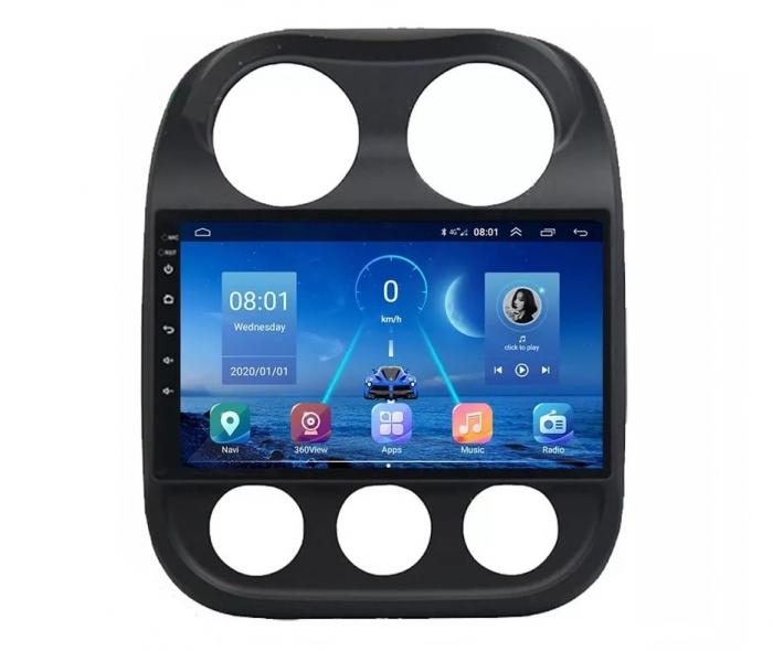 Navigatie Jeep Compass ( 2010 - 2016 ) , Android , Display 9 inch , 2GB RAM +32 GB ROM , Internet , 4G , Aplicatii , Waze , Wi Fi , Usb , Bluetooth , Mirrorlink 1