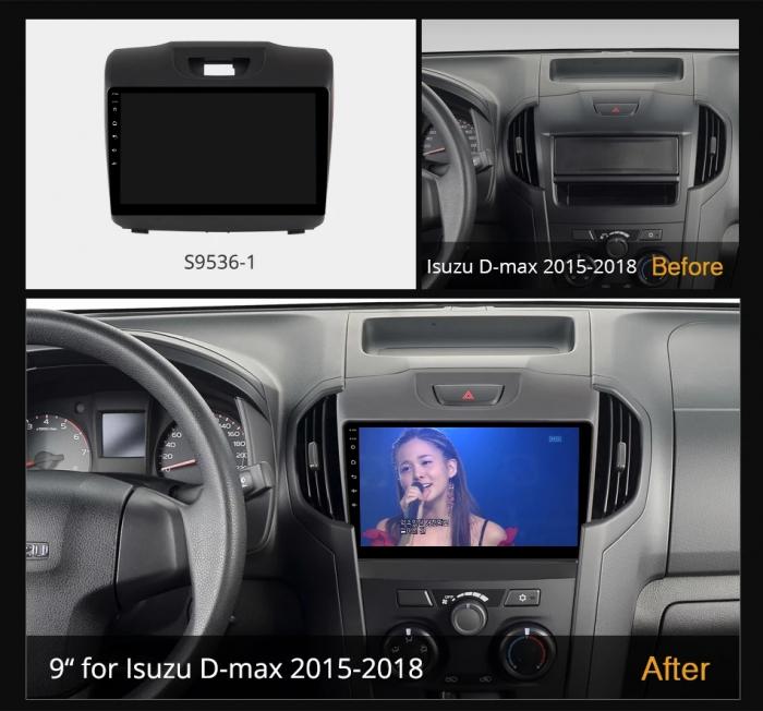 Navigatie Isuzu D Max ( 2015 - 2019 ) , Android , Display 9 inch , 2 GB RAM +32 GB ROM , Internet , 4G , Aplicatii , Waze , Wi Fi , Usb , Bluetooth , Mirrorlink [2]
