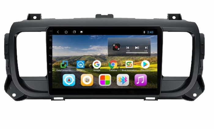 Navigatie Citroen Jumpy 3 Spacetourer ( 2016 - 2021 ) , Android , Display 9 inch , 2GB RAM si 32 GB ROM , Internet , 4G , Aplicatii , Waze , Wi Fi , Usb , Bluetooth , Mirrorlink [0]