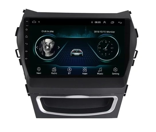 Navigatie Hyundai Santa Fe ix 45 ( 2012 - 2017 ) , Android , Display 9 inch , 2GB RAM +32 GB ROM , Internet , 4G , Aplicatii , Waze , Wi Fi , Usb , Bluetooth , Mirrorlink 5