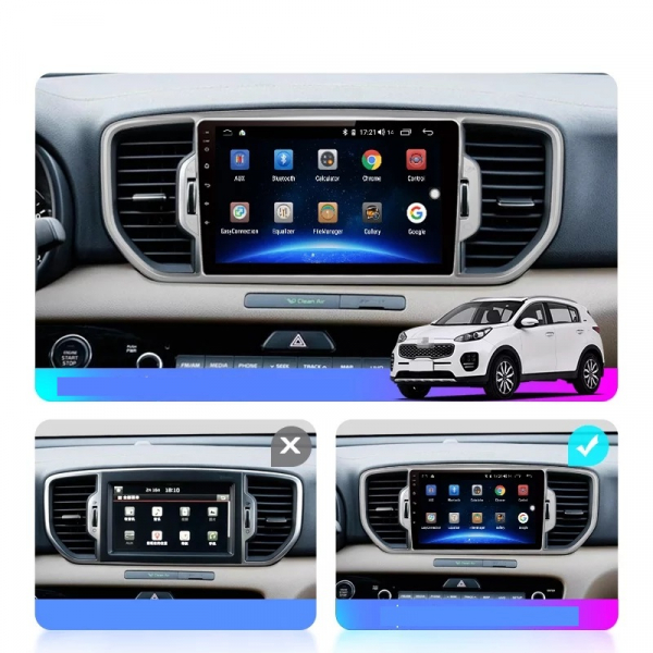 Navigatie Kia Sportage ( 2016 + ) , Android , Display 9 inch , 2GB RAM +32 GB ROM , Internet , 4G , Aplicatii , Waze , Wi Fi , Usb , Bluetooth , Mirrorlink 6