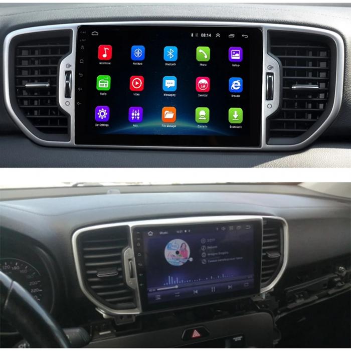 Navigatie KIA Sportage ( 2016 + ) , 4 GB RAM + 64 GB ROM , Slot Sim 4G pentru Internet , Carplay , Android , Aplicatii , Usb , Wi Fi , Bluetooth 3