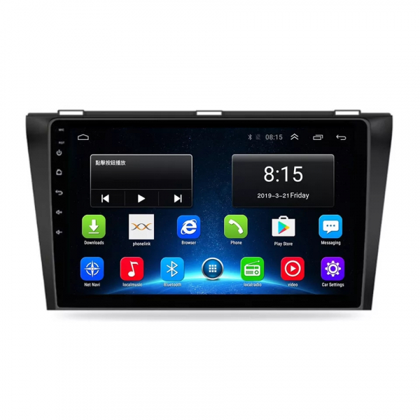 Navigatie Mazda 3 ( 2003 - 2010 ) , Android , Display 9 inch , 2GB RAM +32 GB ROM , Internet , 4G , Aplicatii , Waze , Wi Fi , Usb , Bluetooth , Mirrorlink 6