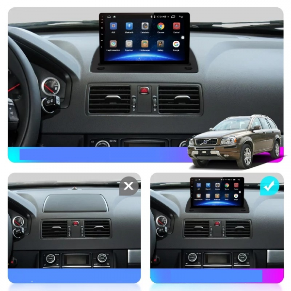 Navigatie Volvo XC90 ( 2003 - 2014 ) , Android , Display 9 inch , 2GB RAM +32 GB ROM , Internet , 4G , Aplicatii , Waze , Wi Fi , Usb , Bluetooth , Mirrorlink 2
