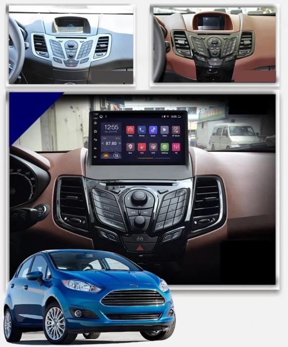 Navigatie Ford Fiesta ( 2009 - 2017 ) , 4 GB RAM + 64 GB ROM , Slot Sim 4G pentru Internet , Carplay , Android , Aplicatii , Usb , Wi Fi , Bluetooth [1]