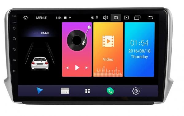 Navigatie Peugeot 208 / 2008 ( 2012 - 2020 ) , Android , Display 10 inch , 2GB RAM +32 GB ROM , Internet , 4G , Aplicatii , Waze , Wi Fi , Usb , Bluetooth , Mirrorlink 1