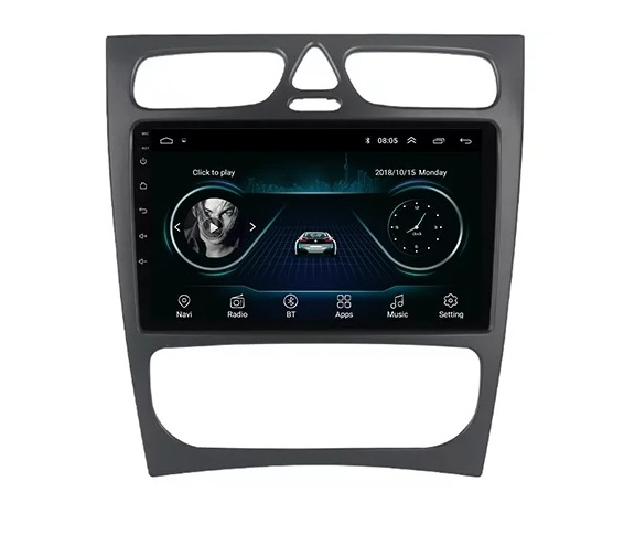 Navigatie Mercedes C Class W203 CLK W209 ( 2000 - 2005 ) , Android , Display 9 inch , 2GB RAM +32 GB ROM , Internet , 4G , Aplicatii , Waze , Wi Fi , Usb , Bluetooth , Mirrorlink 0