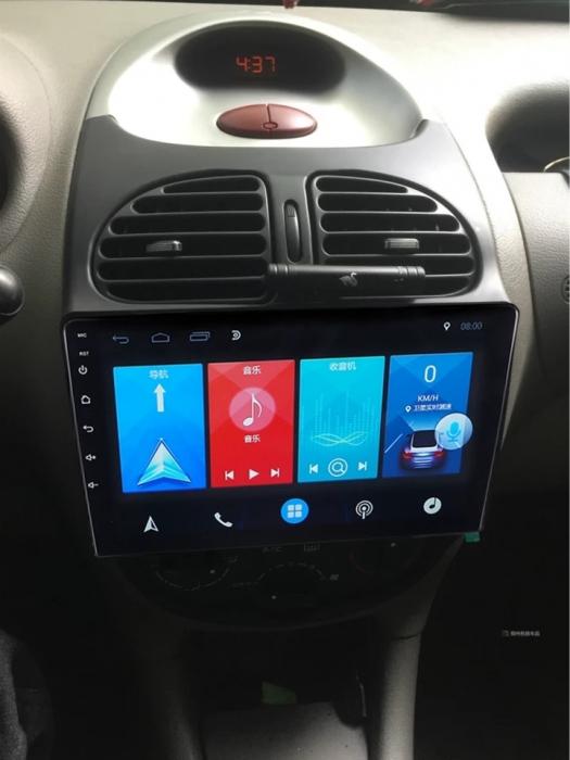 Navigatie Peugeot 206 , Android , Display 9 inch , 2GB RAM +32 GB ROM , Internet , 4G , Aplicatii , Waze , Wi Fi , Usb , Bluetooth , Mirrorlink 5