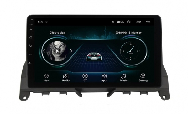 Navigatie Mercedes C Class W204 ( 2006 - 2012 ) , Android , Display 9 inch , 2GB RAM +32 GB ROM , Internet , 4G , Aplicatii , Waze , Wi Fi , Usb , Bluetooth , Mirrorlink 2
