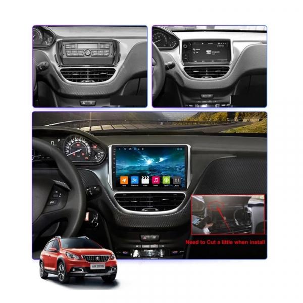 Navigatie Peugeot 208 / 2008 ( 2012 - 2020 ) , Android , Display 10 inch , 2GB RAM +32 GB ROM , Internet , 4G , Aplicatii , Waze , Wi Fi , Usb , Bluetooth , Mirrorlink 7