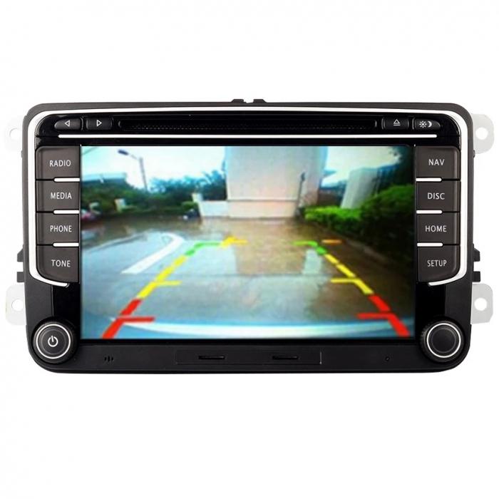 Navigatie VW Golf 5 6 Passat B6 B7 CC Eos Tiguan Touran Jetta Polo Sharan Amarok Caddy , 4 GB RAM + 64 GB ROM , Slot Sim 4G pentru Internet , Carplay , Android Usb , Wi Fi , Bluetooth [5]