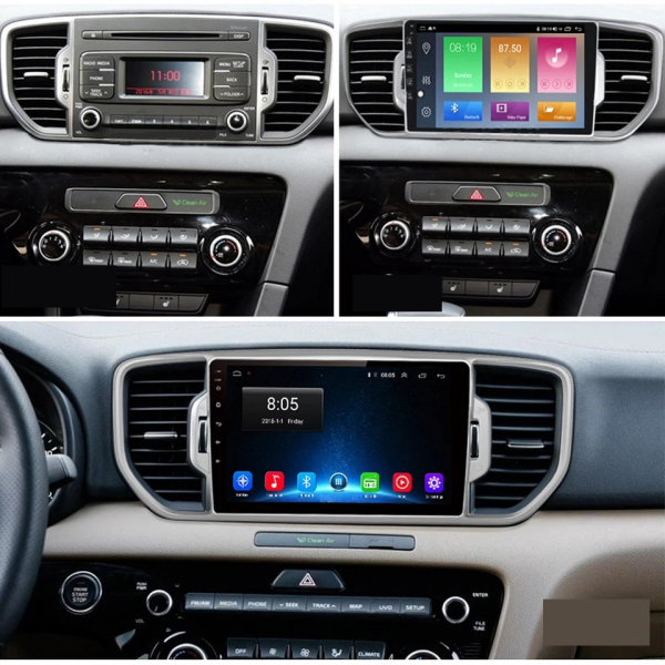 Navigatie Kia Sportage ( 2016 + ) , Android , Display 9 inch , 2GB RAM +32 GB ROM , Internet , 4G , Aplicatii , Waze , Wi Fi , Usb , Bluetooth , Mirrorlink 3