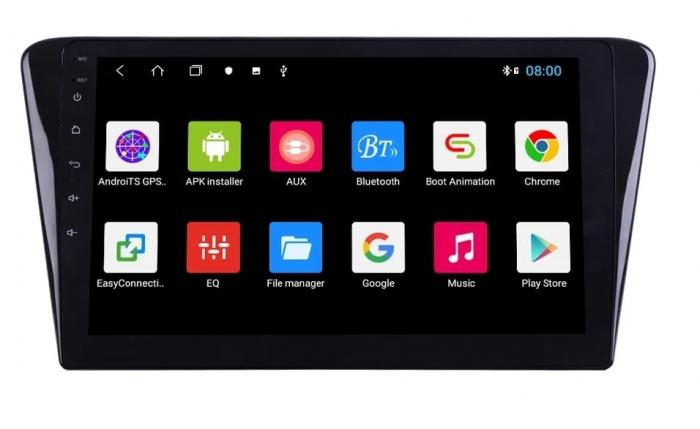 Navigatie Peugeot 408 ( 2014 - 2020 ) , Android , Display 10 inch , 2GB RAM +32 GB ROM , Internet , 4G , Aplicatii , Waze , Wi Fi , Usb , Bluetooth , Mirrorlink 1