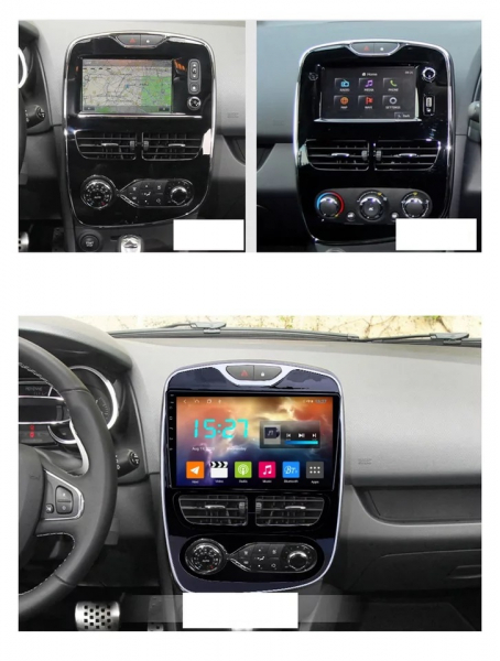 Navigatie Renault Clio 4 ( 2015 + ) , Android , Display 10 inch , 2GB RAM +32 GB ROM , Internet , 4G , Aplicatii , Waze , Wi Fi , Usb , Bluetooth , Mirrorlink 1