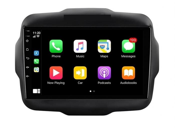 Navigatie Jeep Renegade ( 2015 -2021 ) , 4 GB RAM + 64 GB ROM , Slot Sim 4G pentru Internet , Carplay , Android , Aplicatii , Usb , Wi Fi , Bluetooth 2