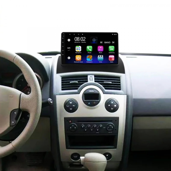 Navigatie Renault Megane 2 ( 2002 - 2009 ) , Android , Display 9 inch , 2GB RAM +32 GB ROM , Internet , 4G , Aplicatii , Waze , Wi Fi , Usb , Bluetooth , Mirrorlink 1