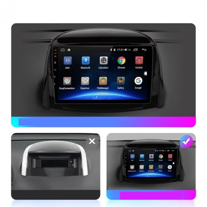 Navigatie Renault Koleos ( 2008 - 2016 ) , Android , Display 9 inch , 2GB RAM +32 GB ROM , Internet , 4G , Aplicatii , Waze , Wi Fi , Usb , Bluetooth , Mirrorlink [4]