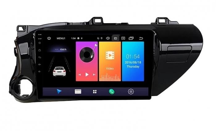 Navigatie Toyota Hilux ( 2015 - 2020 ) , Android , Display 9 inch , 2GB RAM +32 GB ROM , Internet , 4G , Aplicatii , Waze , Wi Fi , Usb , Bluetooth , Mirrorlink 2