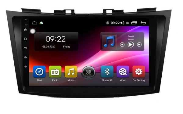 Navigatie Suzuki Swift ( 2010 - 2017 ) , Android , Display 9 inch , 2GB RAM +32 GB ROM , Internet , 4G , Aplicatii , Waze , Wi Fi , Usb , Bluetooth , Mirrorlink 5