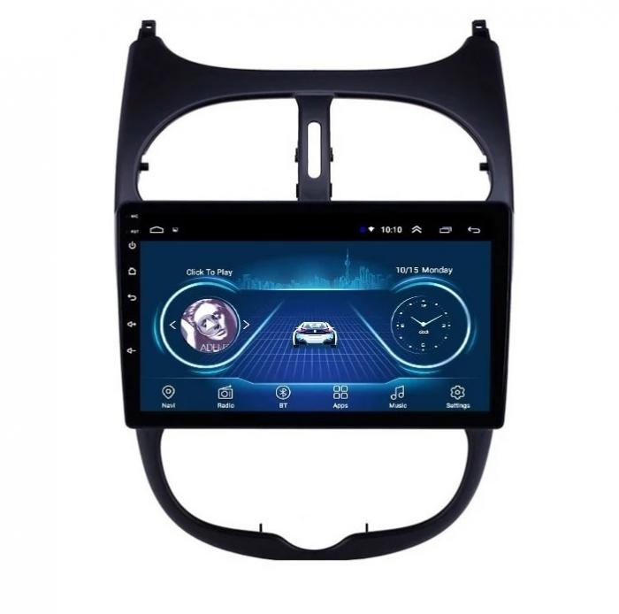 Navigatie Peugeot 206 , Android , Display 9 inch , 2GB RAM +32 GB ROM , Internet , 4G , Aplicatii , Waze , Wi Fi , Usb , Bluetooth , Mirrorlink 1