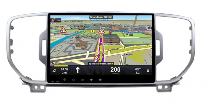 Navigatie KIA Sportage ( 2016 + ) , 4 GB RAM + 64 GB ROM , Slot Sim 4G pentru Internet , Carplay , Android , Aplicatii , Usb , Wi Fi , Bluetooth 1