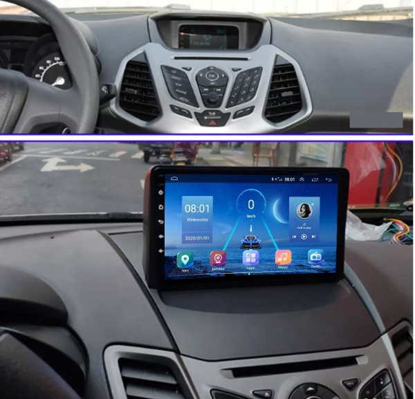 Navigatie Ford Ecosport ( 2013 - 2017 ) , Android , Display 9 inch , 2GB RAM +32 GB ROM , Internet , 4G , Aplicatii , Waze , Wi Fi , Usb , Bluetooth , Mirrorlink 3