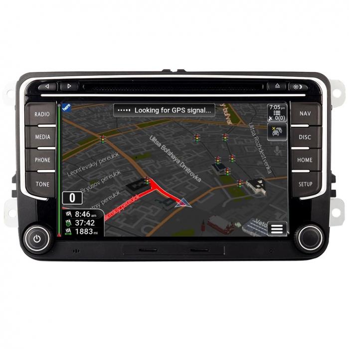 Navigatie VW Golf 5 6 Passat B6 B7 CC Eos Tiguan Touran Jetta Polo Sharan Amarok Caddy , 4 GB RAM + 64 GB ROM , Slot Sim 4G pentru Internet , Carplay , Android Usb , Wi Fi , Bluetooth [4]
