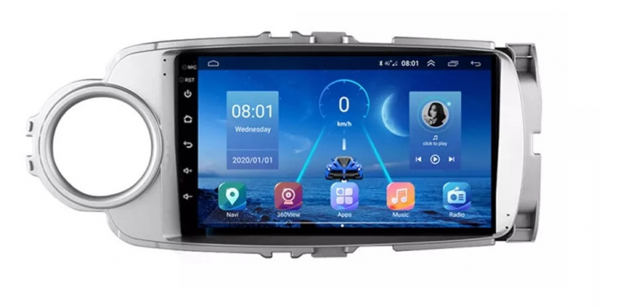 Navigatie Toyota Yaris ( 2010 - 2018 ) , Android , Display 9 inch , 2GB RAM +32 GB ROM , Internet , 4G , Aplicatii , Waze , Wi Fi , Usb , Bluetooth , Mirrorlink [0]