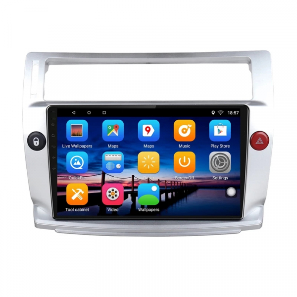 Navigatie Citroen C4 ( 2004 - 2011 ) , Android , Display 9 inch , 2GB RAM +32 GB ROM , Internet , 4G , Aplicatii , Waze , Wi Fi , Usb , Bluetooth , Mirrorlink [2]